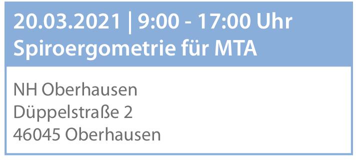Anmeldung - Tages-Seminar für MTA- Oberhausen