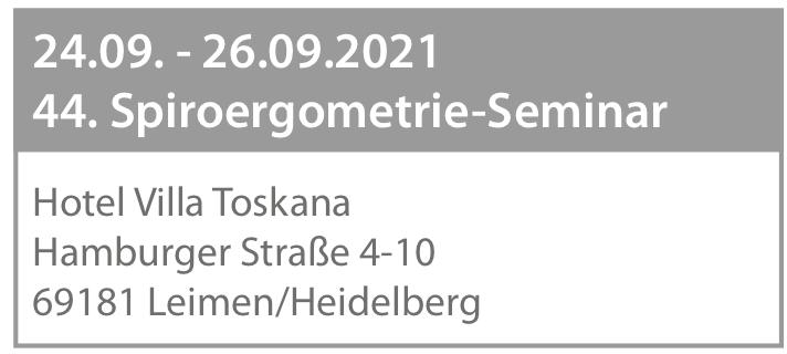 Anmeldung zum 44. Spiroergometrie-Seminar - Leimen-Heidelberg